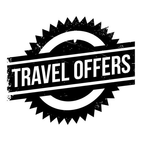 Travel Offers stamp. Grunge design with dust scratches. Effects can be easily removed for a clean, crisp look. Color is easily changed. Illustration