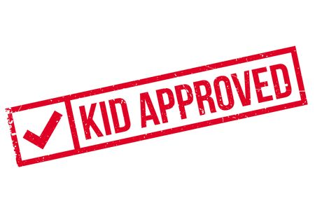 permission granted: Kid Approved rubber stamp. Grunge design with dust scratches. Effects can be easily removed for a clean, crisp look. Color is easily changed.