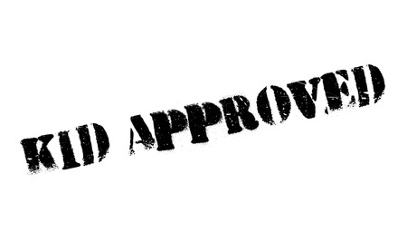affirmative: Kid Approved rubber stamp. Grunge design with dust scratches. Effects can be easily removed for a clean, crisp look. Color is easily changed.