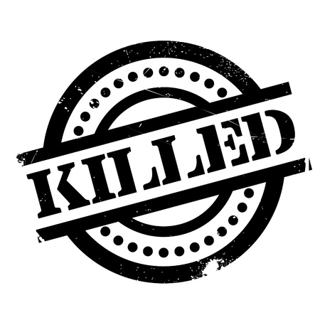 Killed rubber stamp. Grunge design with dust scratches. Effects can be easily removed for a clean, crisp look. Color is easily changed. Illustration