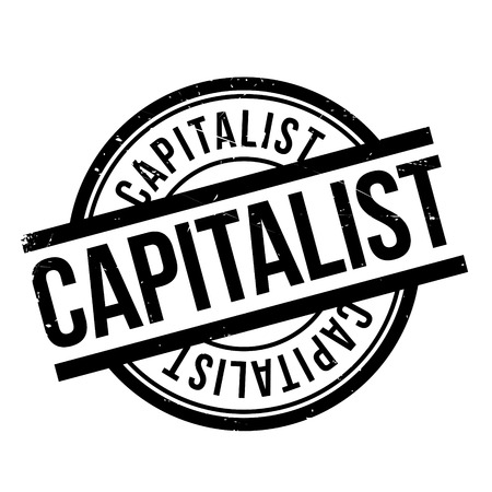 capitalismo: Capitalist rubber stamp. Grunge design with dust scratches. Effects can be easily removed for a clean, crisp look. Color is easily changed.