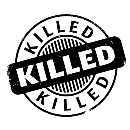killed: Killed rubber stamp. Grunge design with dust scratches. Effects can be easily removed for a clean, crisp look. Color is easily changed. Illustration