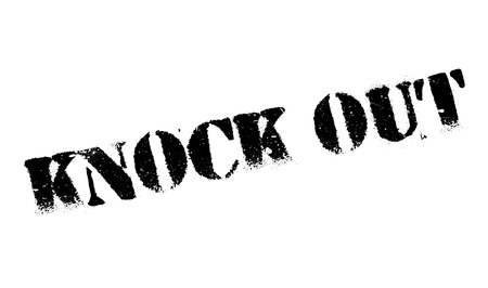 canceled: Knock Out rubber stamp. Grunge design with dust scratches. Effects can be easily removed for a clean, crisp look. Color is easily changed.