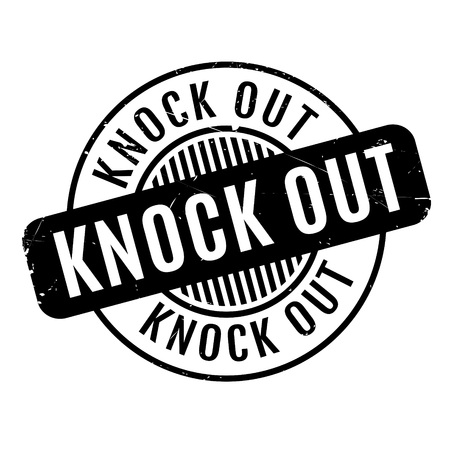Knock Out rubber stamp