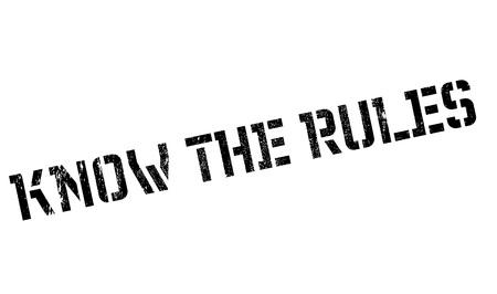 Ken de regels rubber stamp