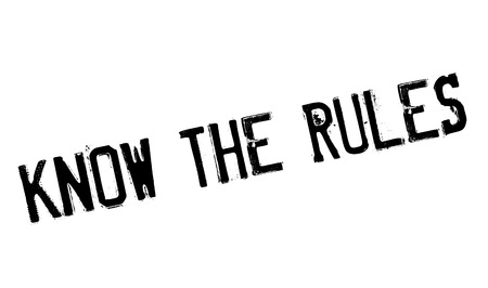 discriminate: Know The Rules rubber stamp