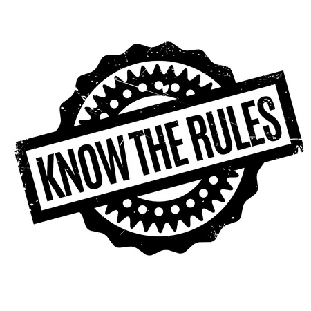 know: Know The Rules rubber stamp