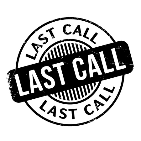 utmost: Last Call rubber stamp