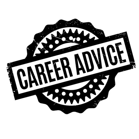 self training: Career Advice rubber stamp. Grunge design with dust scratches. Effects can be easily removed for a clean, crisp look. Color is easily changed. Illustration