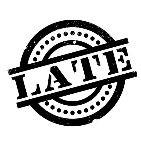rubber stamp Late