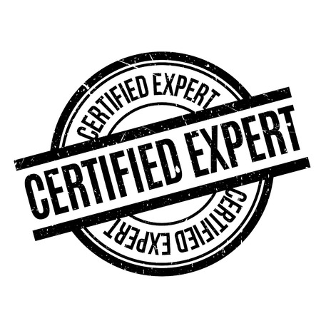 big slick: Certified Expert rubber stamp. Grunge design with dust scratches. Effects can be easily removed for a clean, crisp look. Color is easily changed. Illustration