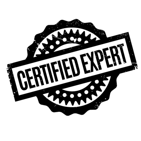 Certified Expert rubber stamp. Grunge design with dust scratches. Effects can be easily removed for a clean, crisp look. Color is easily changed. Illustration