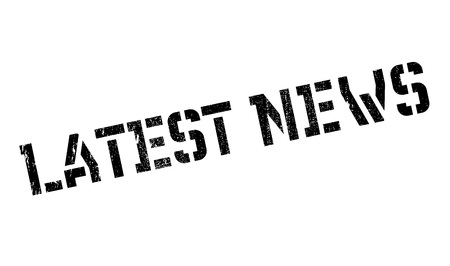 lately news: Latest News rubber stamp Illustration