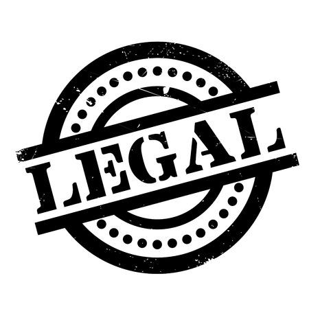 Legal rubber stamp Illustration