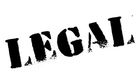 judged: Legal rubber stamp Illustration