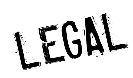rightful: Legal rubber stamp Illustration