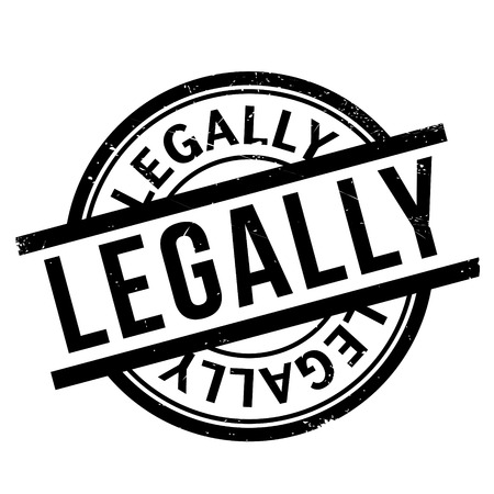 legally: Legally rubber stamp Illustration