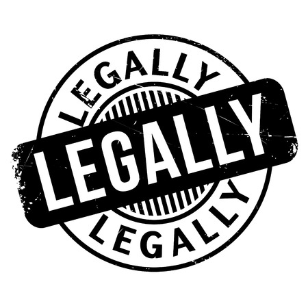 Legally rubber stamp Illustration