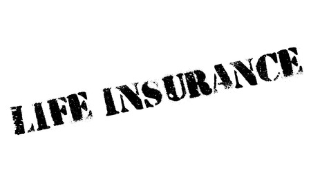 doctor money: Life Insurance rubber stamp Illustration