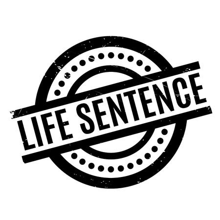 frase: sello de goma Life Sentence Vectores