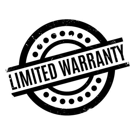 Limited Warranty rubber stamp Illustration