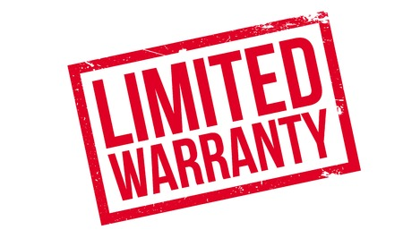 surety: Limited Warranty rubber stamp Illustration