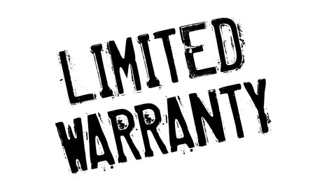 Limited Warranty rubber stamp