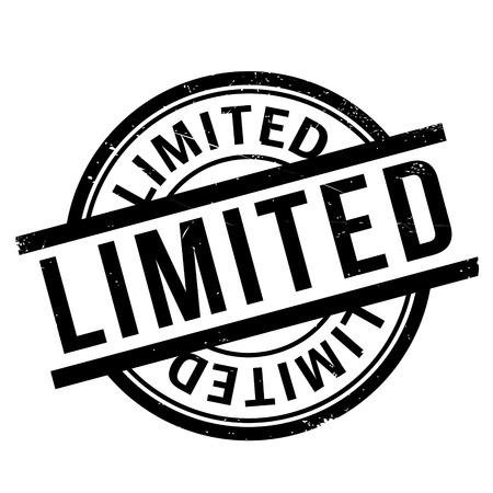 limited: Limited rubber stamp Illustration