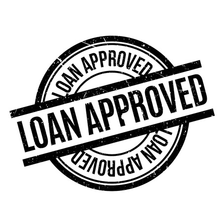 approved: Loan Approved rubber stamp