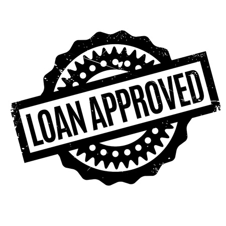 lay out: Loan Approved rubber stamp