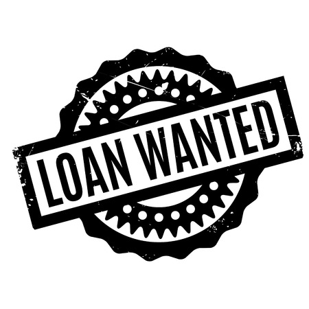 lay out: Loan Wanted rubber stamp Illustration