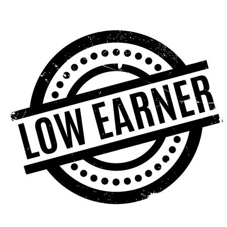 Low Earner rubber stamp Illustration