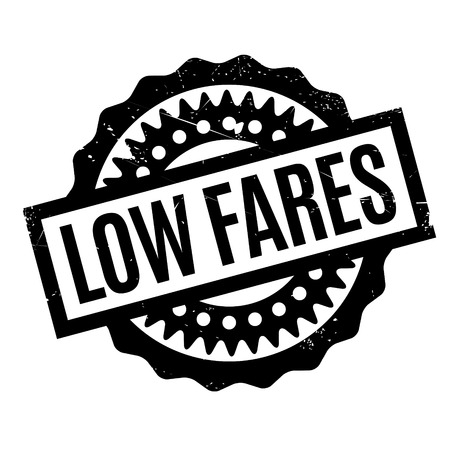 Low Fares rubber stamp  イラスト・ベクター素材