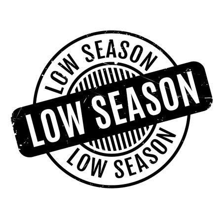 season: Low Season rubber stamp Illustration