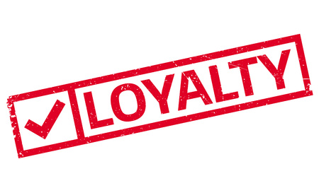 the sincerity: Loyalty rubber stamp