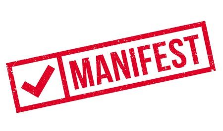 Manifest rubber stamp Illustration