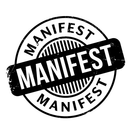 Manifest rubber stamp Illustration