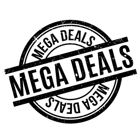 deals: Mega Deals rubber stamp Illustration