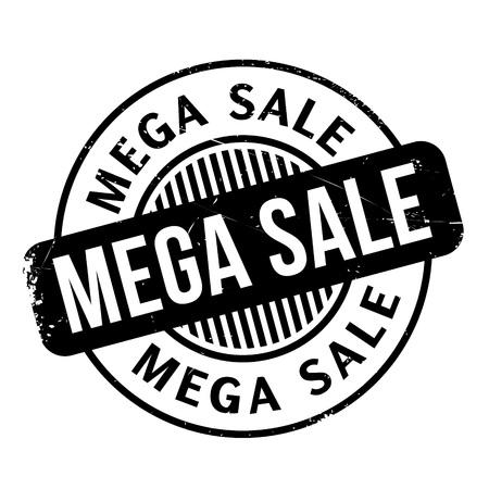 Mega Sale rubber stamp Illustration