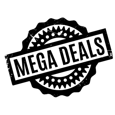 retail therapy: Mega Deals rubber stamp Illustration