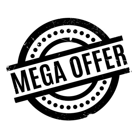 Mega Offer rubber stamp Illustration