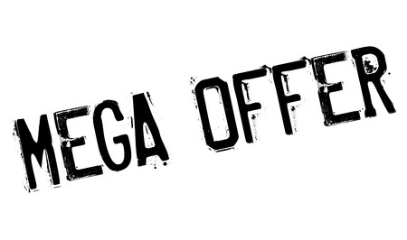 overblown: Mega Offer rubber stamp Illustration