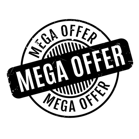 exciting: Mega Offer rubber stamp Illustration
