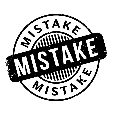 offence: Mistake rubber stamp
