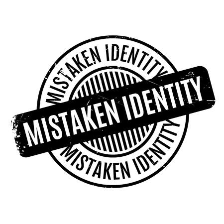 blunder: Mistaken Identity rubber stamp