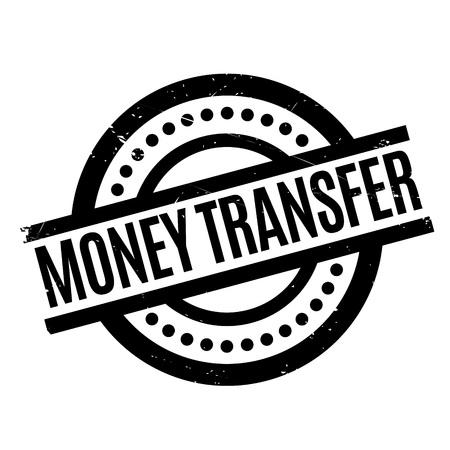 Money Transfer rubber stamp