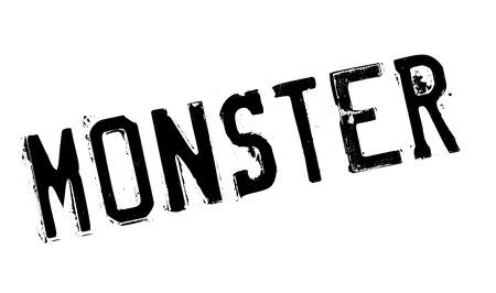 exhaustion: Monster rubber stamp Illustration