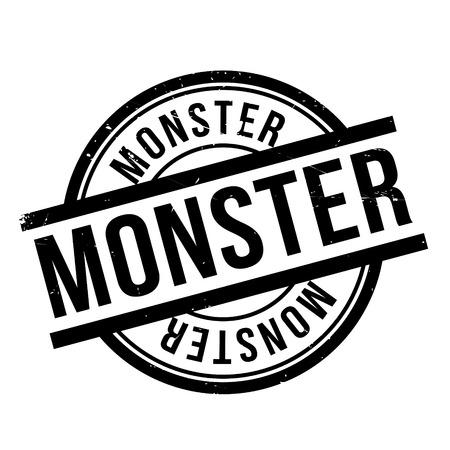 Monster rubber stamp Illustration