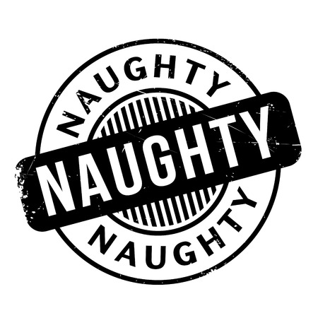 Naughty rubber stamp