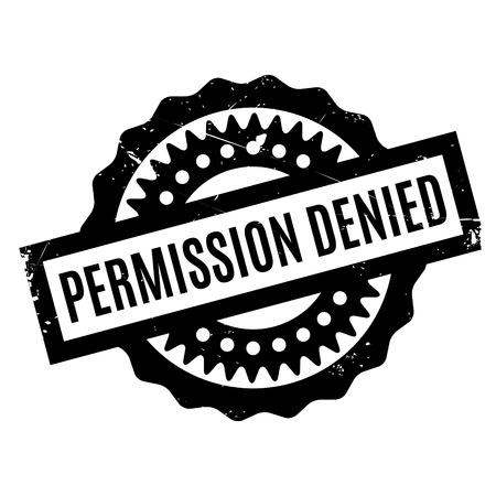 indulgence: Permission Denied rubber stamp Illustration